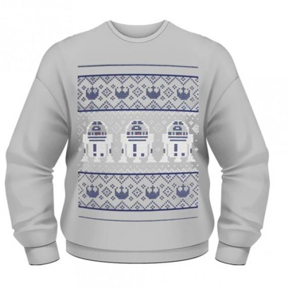 Sweat-Shirt Star Wars R2-D2 Pull de Noël