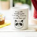 Mug - Superpowers to cure early morning panda bear eyes