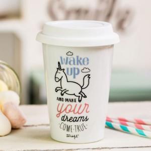 Mug take away - Wake up and make your dreams come true