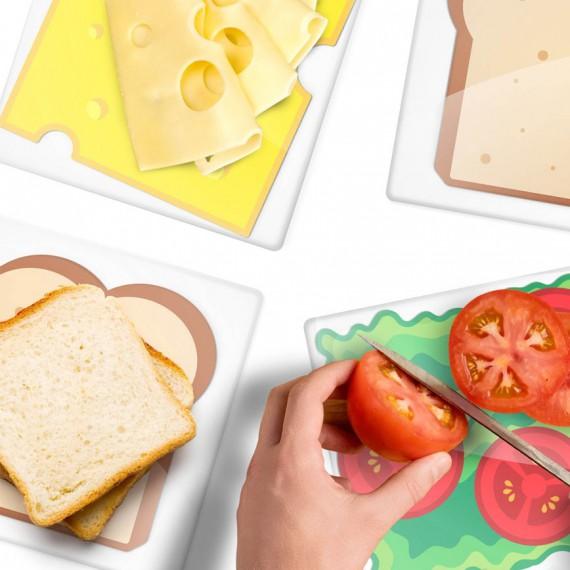 Planche à découper sandwich