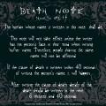 Tapis de souris règles Death Note