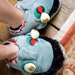 Chaussons Pantoufles tête de Zombies