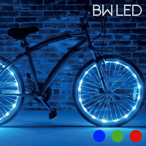 2 tubes LED pour vélo bicyclette lumineux rouge