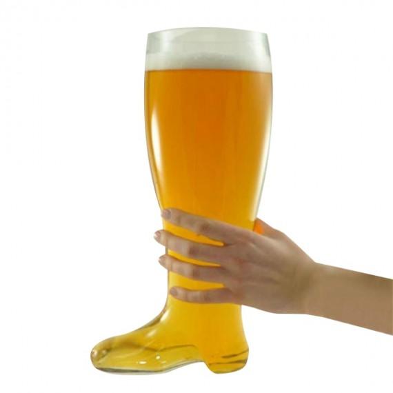 Verre à bière géant en forme de botte
