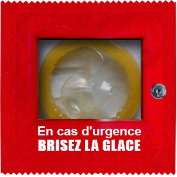 Préservatif Brisez la glace en cas d'urgence