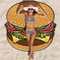 Serviette de plage Hamburger