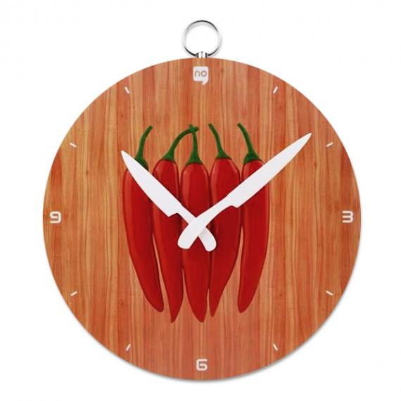 Horloge Murale Assiette de Piments