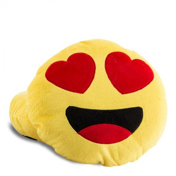 Coussin Smiley Emoji Amoureux
