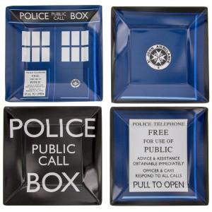 Set de 4 assiettes Doctor Who