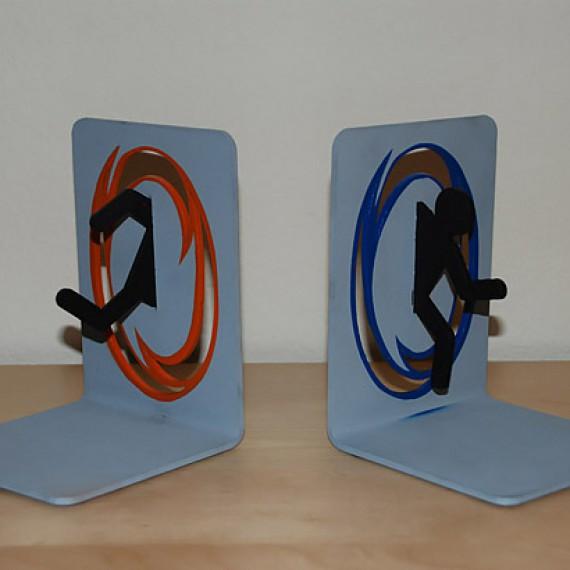 Serre-livres Portal Bleu et Orange