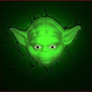 Lampe murale 3D Yoda Star Wars