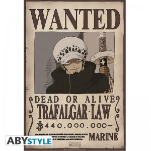 Poster avis de recherche Trafalgar Law One Piece