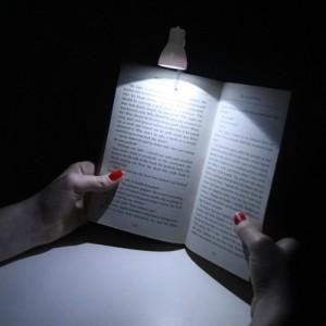 Petite lampe de lecture blanche