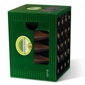 Tabouret en carton caisse de bière - Maître Brasseur