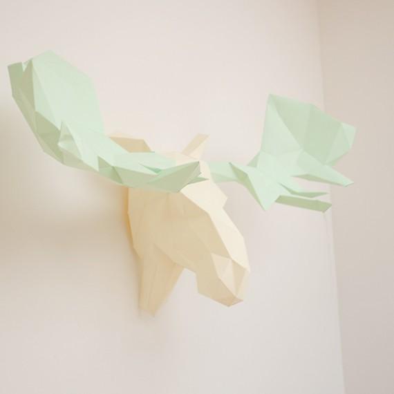 Sculpture en papier, Alban l'élan
