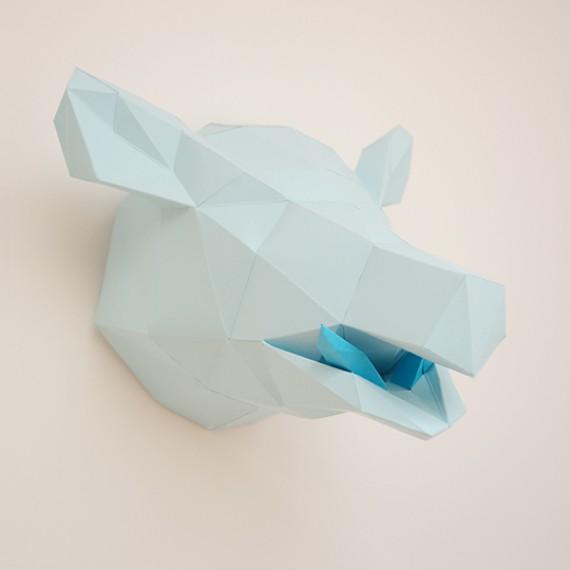 Sculpture en papier, Jibé le sanglier