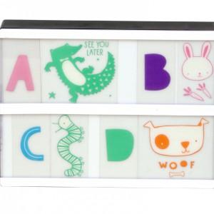 Lettres couleur pour Lightbox