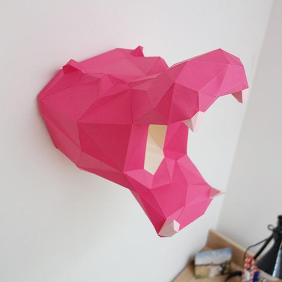 Sculpture en papier DIY - L'hippopotame