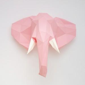 Sculpture en papier DIY - Vincent l'éléphant