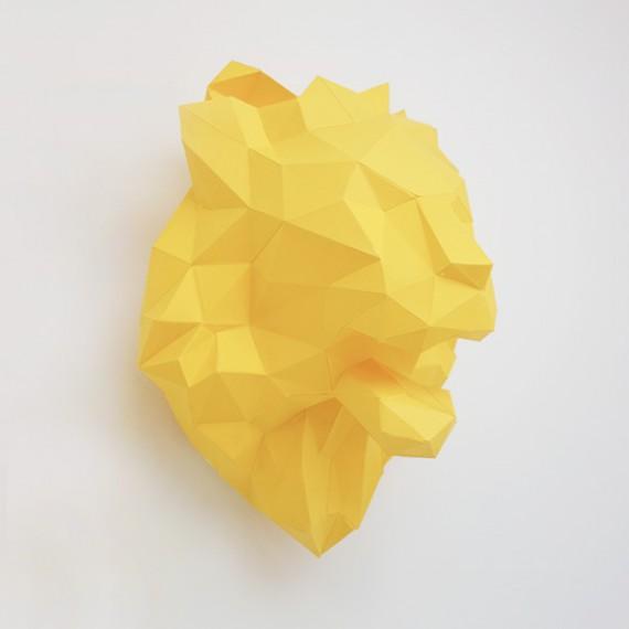 Sculpture en papier DIY - Le Lion