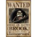 Poster avis de recherche Brook One Piece