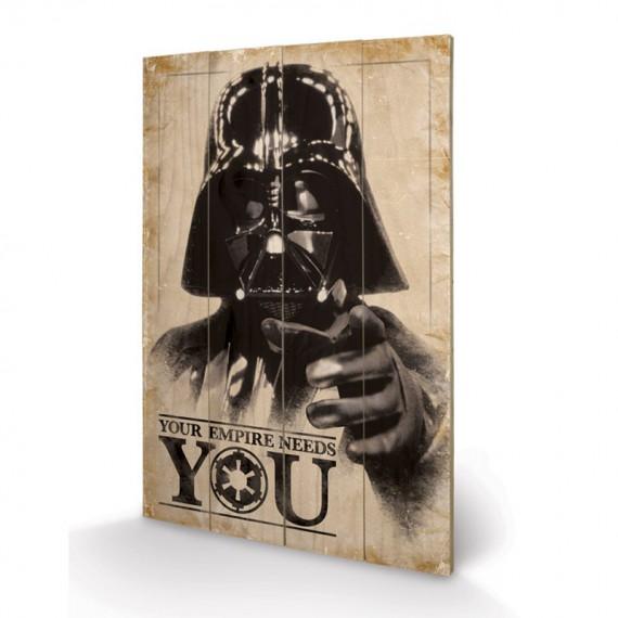 Panneau en Bois Star Wars Your Empire Needs You