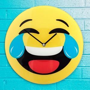Horloge murale émoticône rire