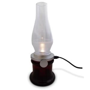 Lampe de chevet commandée par le souffle