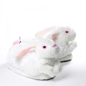 Chaussons animaux Lapin blanc