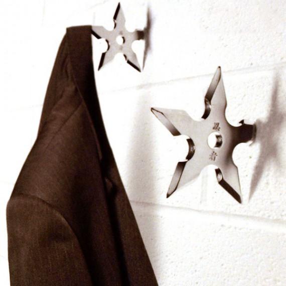 Porte-manteau étoile métallique Ninjas