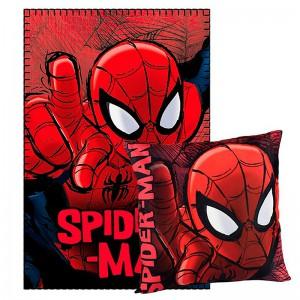 Set couverture et coussin Spiderman