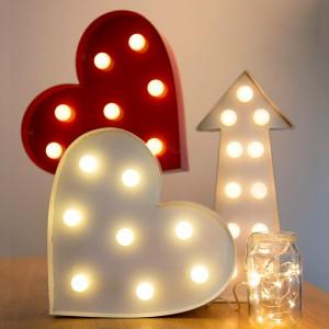 Lampe murale coeur LED