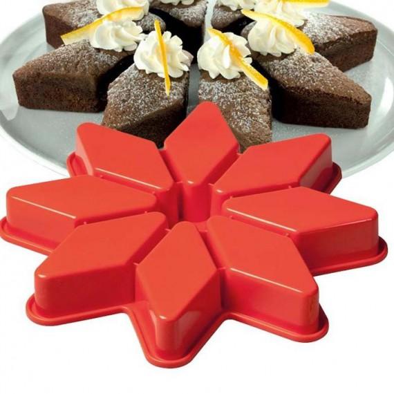 Moule à gâteaux silicone en étoile