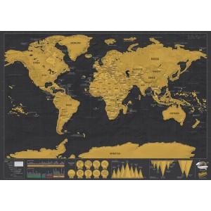Carte du Monde à Gratter Luxe Edition Voyage