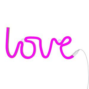 Lampe murale néon Love rose