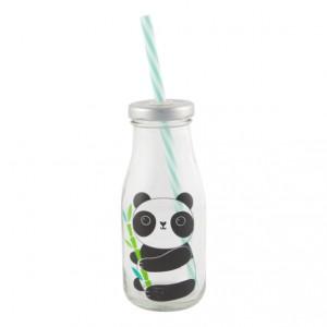 Petite bouteille Panda avec paille