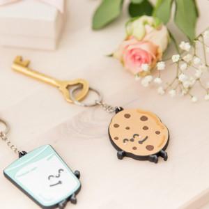 Jeu de 2 Porte-Clés - Pour des Couples Vraiment Inséparables