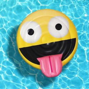 Matelas gonflable emoji géant