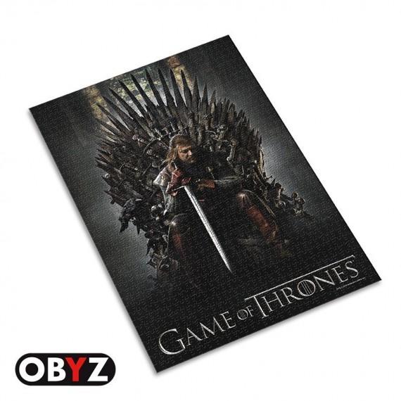 Puzzle Game Of Thrones - Eddard Stark sur le trône de fer