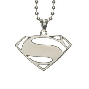 Collier Pendentif Superman Logo Argenté Man of Steel