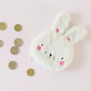 Porte-monnaie peluche lapin