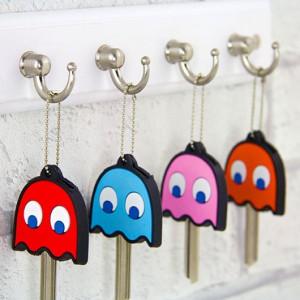 Coffret de 4 cache-clés en forme de fantôme de Pacman