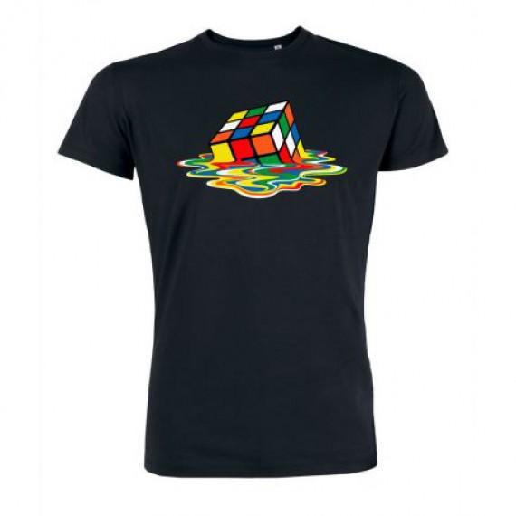 T-shirt The Big bang Theory - Sheldon's Meltin Cube