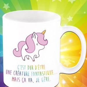 """Tasse licorne « c'est dur d'être une créature fantastique"""""""