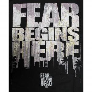 Tshirt homme Fear Begin Here - The Walking Dead
