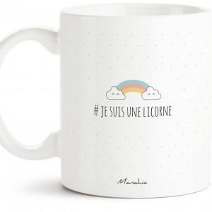 Mug licorne - Je prends la vie côté paillettes