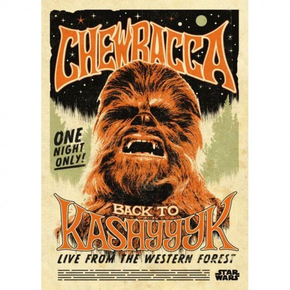 Poster en Métal Chewbacca