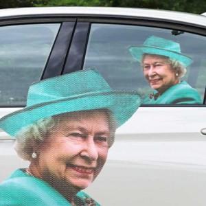 Sticker vitre de voiture Elisabeth II