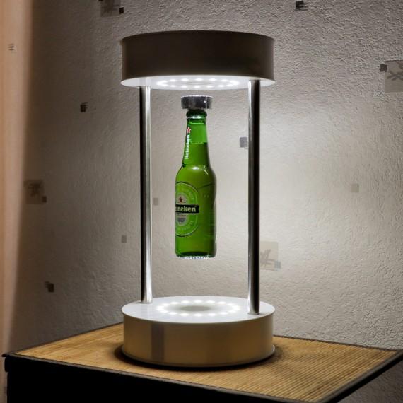 Flying bar blanc pour bouteille en lévitation