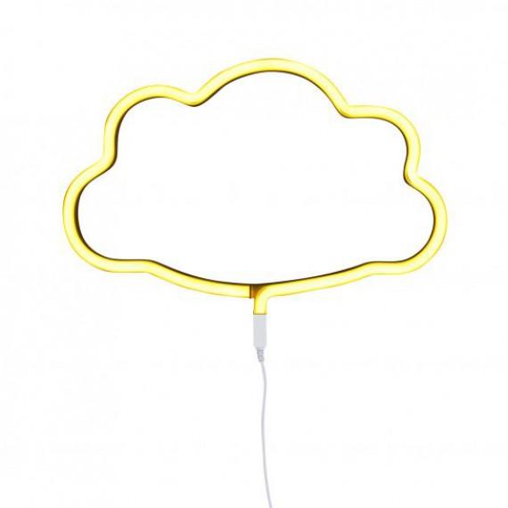 Neon nuage jaune